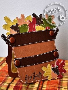 "autumn card, but it would be cute with flowers, apples, etc ""in"" it."