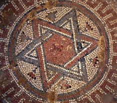 The Star of David on the floor of the Christian Church (VI cent A.D.) - Shiloh Tel - Israel