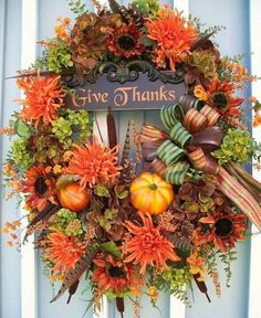 Thanksgiving Give Thanks Wreath