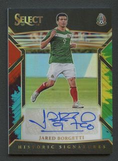 2017-18 Select Soccer Tie-Dye Prizm Historic Jared Borgetti AUTO 20/30 #Soccer Soccer Cards, Baseball Cards, Football Mexicano, The Selection, Tie Dye, Sports, Hs Sports, Sport, Football Cards