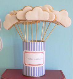 Cloud Cookies for Airplane Party