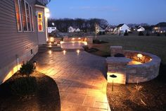 Patio idea with lighting