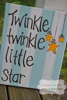 TWINKLE TWINKLE Little Star Handpainted by TheJellyBeanJunction, $34.99