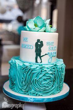 """She said yes"" #nicolelemphotography #engagement #party #cake #couple #family #love"