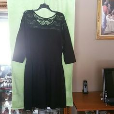 Jessica  Simpson Dress Nice black with lace on the top of dress great for any occasion Jessica Simpson Dresses Midi