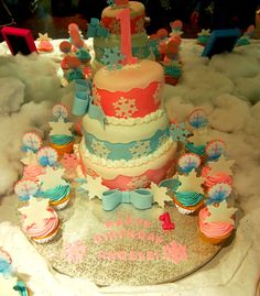 Cake at a Winter Wonderland Party #winter #cake