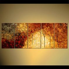 Landscape Blooming Tree Painting Original Abstract by OsnatFineArt, $589.00