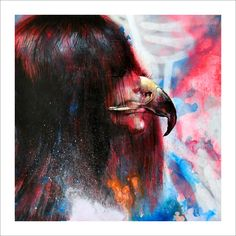 I Am a Hawk - Limited Edition Print by Shark Toof      Signed and numbered edition of just 100 prints. $60  http://www.eyesonwalls.com/collections/limited-edition-prints/products/i-am-a-hawk-limited-edition#