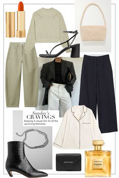 Sunday's Cravings: Casual Chic Festivities Capsule Wardrobe, Work Wardrobe, 90s Fashion, Autumn Fashion, Fashion Outfits, Womens Fashion, Polyvore Outfits, Casual Chic, Mode Dope
