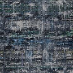 "Thaier Helal, ""Assi River"" (2014), mixed media on canvas (courtesy the artist and Ayyam Gallery)"