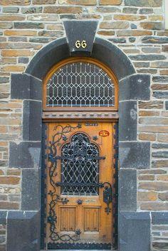 "Stolzenfels Castle ~ Koblenz, Rhineland-Palatinate, Germany ~ Mik's Pics ""Doors, Vinders und Gates ll"" board Grand Entrance, Entrance Doors, Doorway, Cool Doors, Unique Doors, Door Knockers, Door Knobs, Door Hinges, Porches"