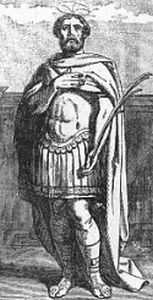 Saint Victorian of Hadrumetum. Weathly imperial Roman pro-consul and governor of Carthage, he was deposed, arrested, tortured and executed for adhering to orthodox Christianity and refusing to accept the heretic teachings of Arianism.