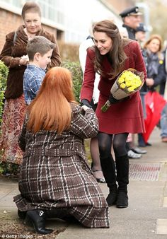 Kate, 35, has touched down in Wales for her first engagement as patron of Action for Children, visiting a mental health project and the the Caerphilly Family Intervention Team (FIT).