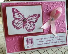 Breast Cancer Handmade Greeting Card Courage Hope Support Fight Like A Girl | eBay