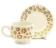 Guardian Angel Cup & Saucer Set Special Price $12.00 was $14.00, Contact us to order st.elisabeth.shop@gmail.com #CatalogOfGoodDeeds #clay #ceramic #poterry #cup #teaset #tea #handmade #craft #home #gift #present #handpainted #saucersets #tableware #ceramicworkshop