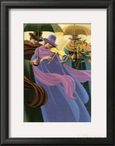 The Woman with the Yellow Violin Framed Art Print