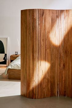 Check out Slatted Screen Room Divider from Urban Outfitters Wood Room Divider, Room Divider Screen, Room Screen, Bed Divider, Bedroom Divider, Small Room Divider, Sliding Room Dividers, Space Dividers, Cool Furniture