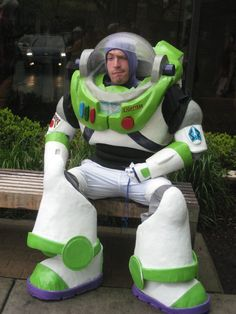 Buzz Lightyear Cos Play -- I'm going to assume he's a dad, in which case, he's the coolest dad on the planet... no, in the Universe!