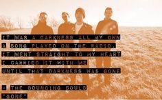 The quotable Bouncing Souls Cool Lyrics, Music Lyrics, Punk Rock Lyrics, 90 Songs, Tori Amos, Song Play, In A Heartbeat, Jukebox, Quotations