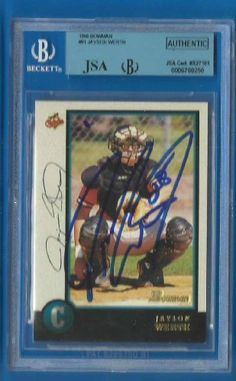 JAYSON WERTH Signed 1998 Bowman Card BGS JSA Nationals Phillies Autographed Slab by Signed Trading Card. $32.99. Up for sale is a Washington Nationals great Jayson Werth autographed 1998 Bowman card #81. Slabbed by Beckett and authenticated by JSA. Nice Jayson Werth blue sharpie signature.