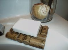 Wine cork soap dish Wine Cork Wreath, Wine Cork Crafts, Wine Craft, Solid Perfume, Home Made Soap, Lotion, Corks, Craft Projects, Dish