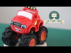 Blaze Monster Machines cake topper fondant - tutorial pasta di zucchero torta - YouTube