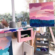 Stef Le Gros (@steflegrosart) • Instagram photos and videos Artworks, Loft, Photo And Video, Studio, Bed, Videos, Photos, Furniture, Instagram