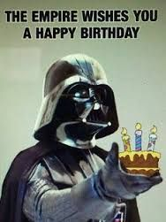 Resultado de imagem para happy birthday star wars
