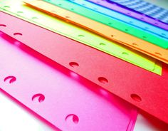 Personal Planner Rainbow Notepaper, 100 Sheets. $7.25, via Etsy.