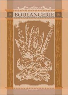 Boulangerie Pain Kitchen Tea Towel Garnier Thiebaut