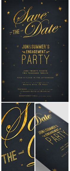 More Design Please - MoreDesignPlease - Starry Night : Save the Dates