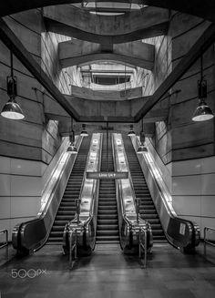 Line U4 - Exposure done in the Vienna subway, Austria.