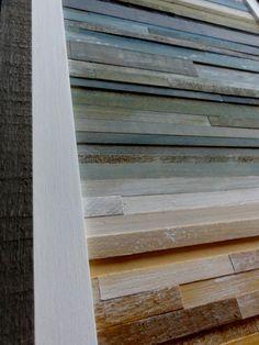 Coastal Reclaimed Wood Art 18 X 18 by RedHouseDesignStudio on Etsy, $175.00