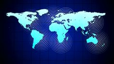 Radio waves over the world