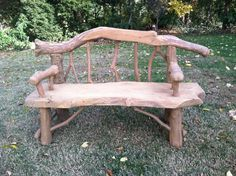 Log Bench by RedeemedFinds on Etsy, $800.00