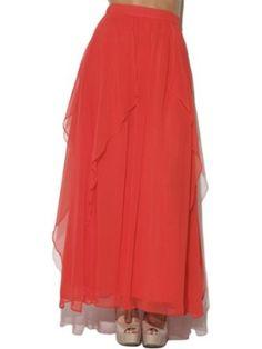 Arden B. Women's Ruffle Layered Maxi Skirt