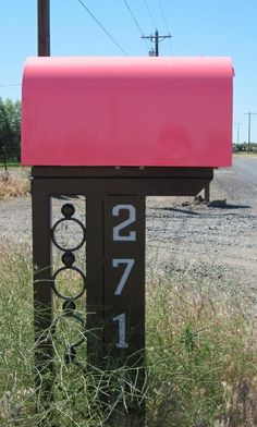 Mailbox idea --- but not in Pink!