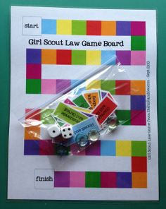 earn the Girl Scout Law Game Free Printable. Might work for our law too. Girl Scout Law, Scout Mom, Daisy Girl Scouts, Girl Scout Leader, Cub Scouts, Girl Scout Daisy Petals, Tiger Scouts, Girl Scout Badges, Brownie Girl Scouts