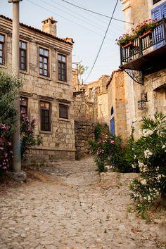 Old Aegean Arch - Adatepe village streets by Ozan Özdil on 500px
