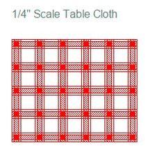 1/4 Inch Scale (1:48 Scale) Printables pour une toile ciree