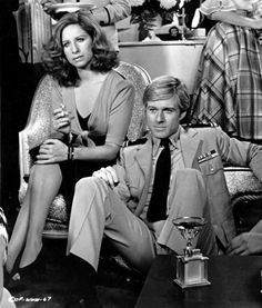 Streisand and Redford--The Way We Were--KKKKKattie and Hubbell.  The amazing scene where he ties her shoelace!  The dynamic interplay between strong feminism and laid back-reality-go with the flow.  Love that smolders so deep yet must be extinguised.  LOVE this movie!