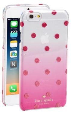 kate spade new york 'glitter dot' ombré iPhone 6 & case