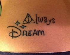 Harry Potter/Disney crossover tattoo. This is perfect.