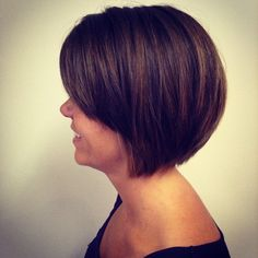 Precision Razored Bob Haircut with Highlight by Danielle Hardy http://cutnj.com