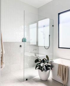 Bathroom Renos, Laundry In Bathroom, Bathroom Layout, Bathroom Renovations, Narrow Bathroom, Bathroom Goals, Bathroom Design Inspiration, Bathroom Interior Design, Upstairs Bathrooms