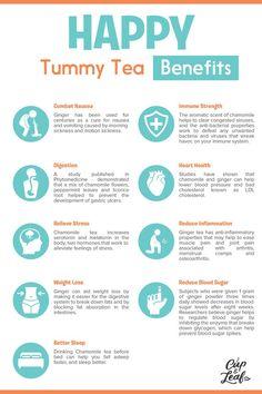 Glücklicher Bauch-Tee - Everything Tea - Tee Stomach Remedies, Upset Stomach Remedy, Diarrhea Remedies, Tea For Stomach Ache, Herbal Tea Benefits, Black Tea Benefits, How To Cure Nausea, Peppermint Tea Benefits, Tummy Tea