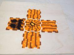 3d hama beads calabazas halloween  plantilla