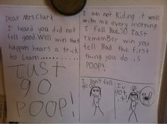 Little Kid Writes This Hilarious Letter To His Sick Teacher. funny jokes lol funny quote funny quotes funny sayings hilarious humor teacher funny kids Letter For Him, Letters For Kids, Funny Shit, The Funny, Funny Stuff, Funny Humor, That's Hilarious, Funny Sayings, Kid Stuff