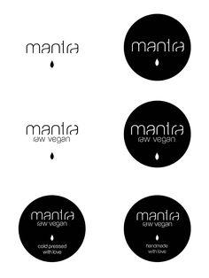 Mantra branding, a raw vegan restaurant in Italy http://identitydesigned.com/mantra/