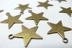 10 pieces bronze étoiles fines